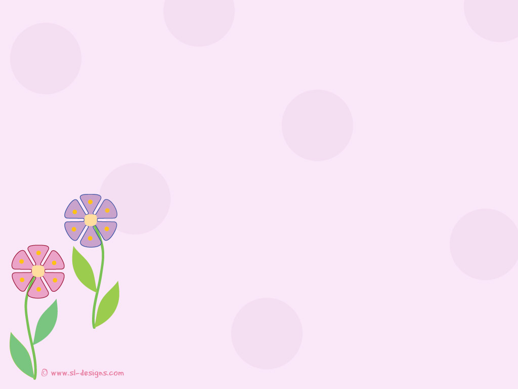 flowers on pink